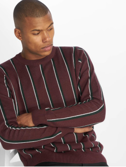 New Look Tröja Vertical Stripe röd