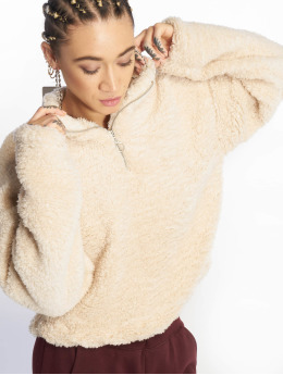 New Look trui Teddy Half Zip beige