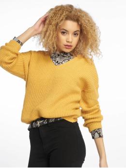New Look trui Op Twist Back geel