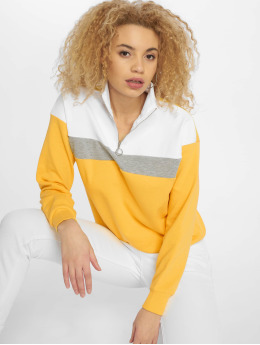 New Look trui WOW Colourblock geel
