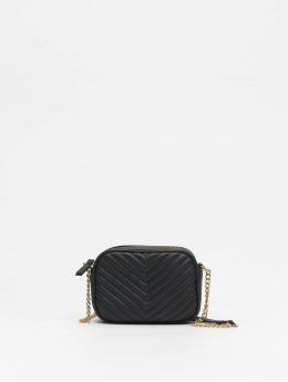 New Look Väska Chevron Quilt svart
