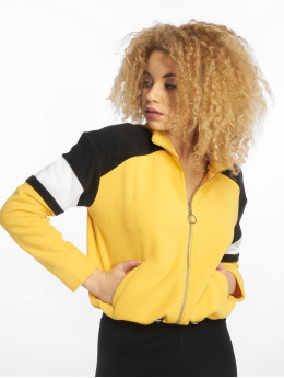 New Look Veste mi-saison légère Colourblock Polar Fleece jaune