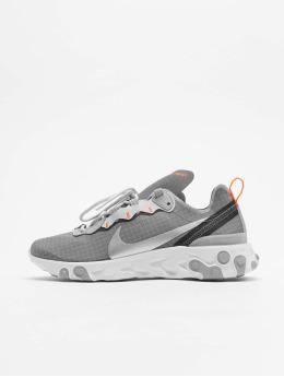 Nike Сникеры React Element 55 серый