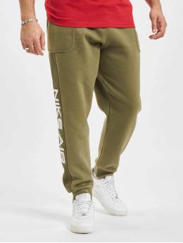 Nike Спортивные брюки Air оливковый
