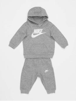 Nike Anzug Nkb Club Flc Po Hoodie Pnt  grau