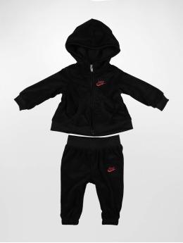 Nike Anzug Velour schwarz