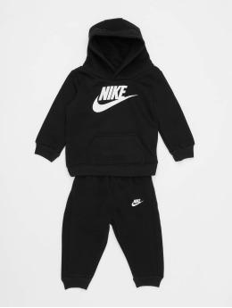 Nike Anzug Nkb Club Flc Po Hoodie Pnt schwarz