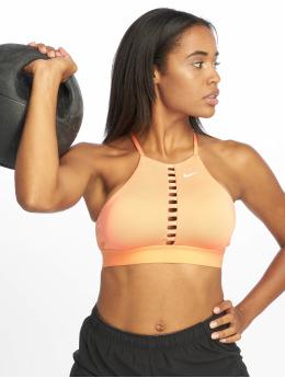 Nike Biustonosz sportowy Indy Lattice pomaranczowy