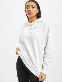 Nike Bluzy z kapturem BB OS Shine  bialy