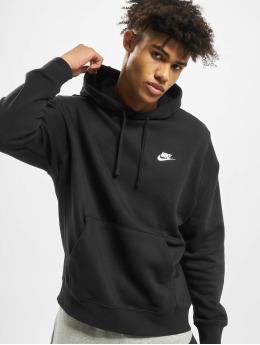 Nike Bluzy z kapturem Club PO BB czarny