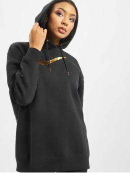 Nike Bluzy z kapturem BB OS Shine czarny