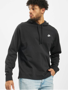 Nike Bluzy z kapturem Club  czarny