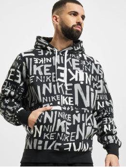 Nike Bluzy z kapturem Club BB czarny