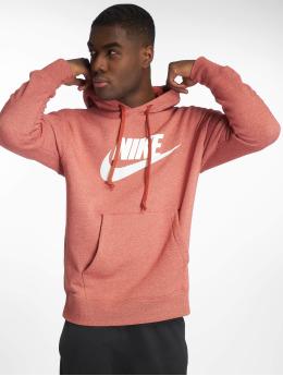 Nike Bluzy z kapturem Flecked czerwony