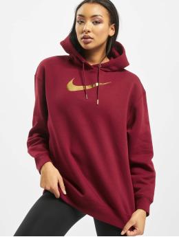 Nike Bluzy z kapturem BB OS Shine  czerwony