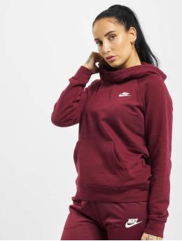 Nike Bluzy z kapturem Essential Fleece czerwony