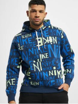 Nike Bluzy z kapturem Club BB niebieski