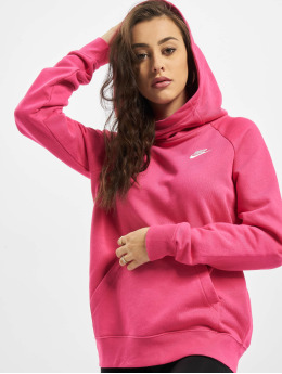 Nike Bluzy z kapturem Essential FNL Fleece pink