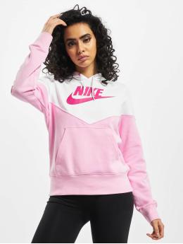 Nike Bluzy z kapturem Heritage Fleece pink