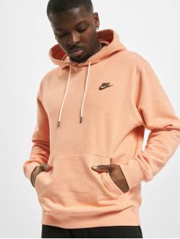 Nike Bluzy z kapturem Nsw Po Sb Revival pomaranczowy