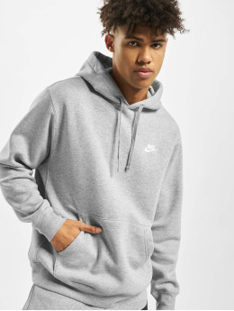 Nike Bluzy z kapturem Club PO BB szary