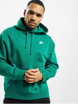 Nike Bluzy z kapturem PO BB zielony