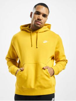 Nike Bluzy z kapturem PO BB Hoodie zólty