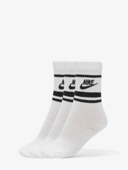 Nike Calcetines Crew Essential Stripe blanco