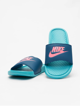 Nike Claquettes & Sandales Benassi JDI turquoise