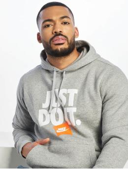 Nike Felpa con cappuccio JDI PO Fleece grigio