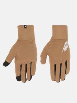 Nike handschoenen Club Fleece bruin