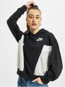 Nike Hoody W Nsw Heritage Flc schwarz