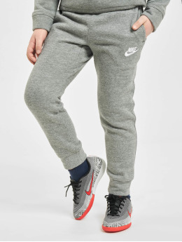 Nike Jogginghose Club Fleece Rib Cuff grau