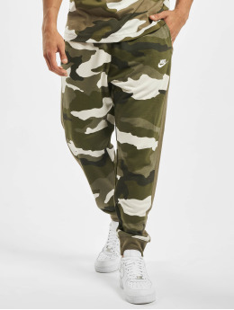 Nike Jogginghose Club FT Camo olive