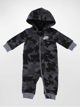 Nike Jumpsuit Club Fleeve Camo schwarz