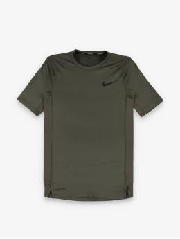 Nike Kompresjon shirt Pro Short Sleeve Tight khaki