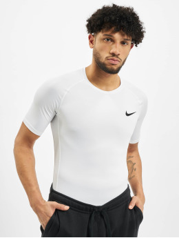 Nike Kompressionsshirt Pro Short Sleeve Tight bialy