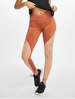 Nike Leggings deportivos Epic Lux 7/8 Mesh MR  naranja