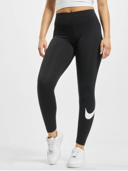 Nike Leggings/Treggings Sportswear Essential GX MR Swoosh  czarny
