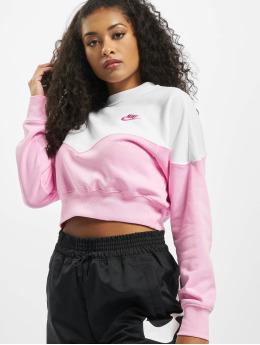 Nike Maglia Heritage Crew Fleece  rosa