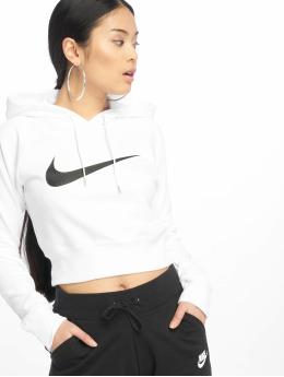 Nike Mikiny Swoosh Cropped biela