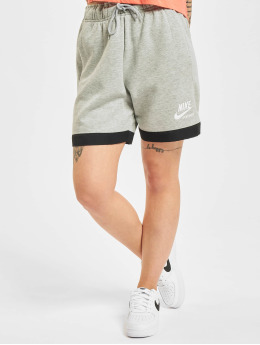 Nike Pantalón cortos Heritage Easy Fleece gris