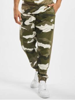 Nike Pantalón deportivo Club FT Camo oliva
