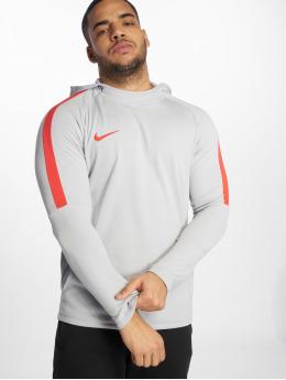 Nike Performance Bluzy z kapturem Dri-FIT Academy szary
