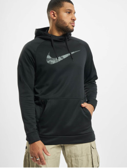 Nike Performance Hoodies Therma Camo 2 čern