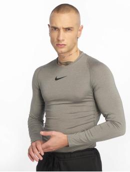 Nike Performance Langærmede Fitted  grå