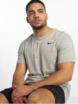Nike Performance Shirts desportes Dri-Fit gris