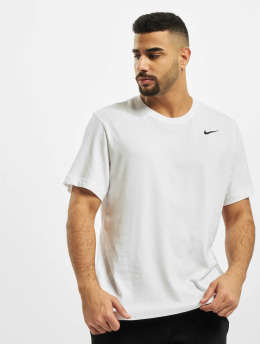 Nike Performance Shirts sportive Dry Crew Solid bianco