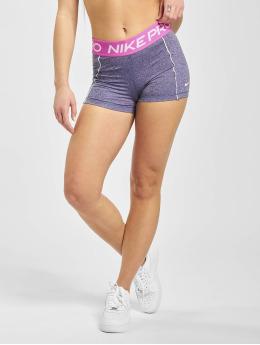 Nike Performance Shortsit 3in Space Dye purpuranpunainen