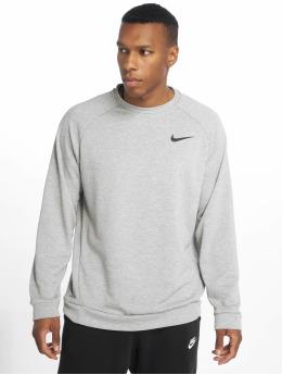 Nike Performance Sport Shirts Dry Fleece Crew grijs